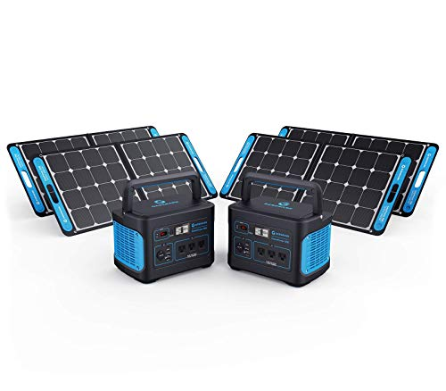 Generark Solar Generator For Homes: Portable Power Station Backup Battery & Solar Panel Power Generator. 1000W-2000W at 110V. Up To 7 Days of Emergency Power Supply. (2x4 (For 2-4 People Family))